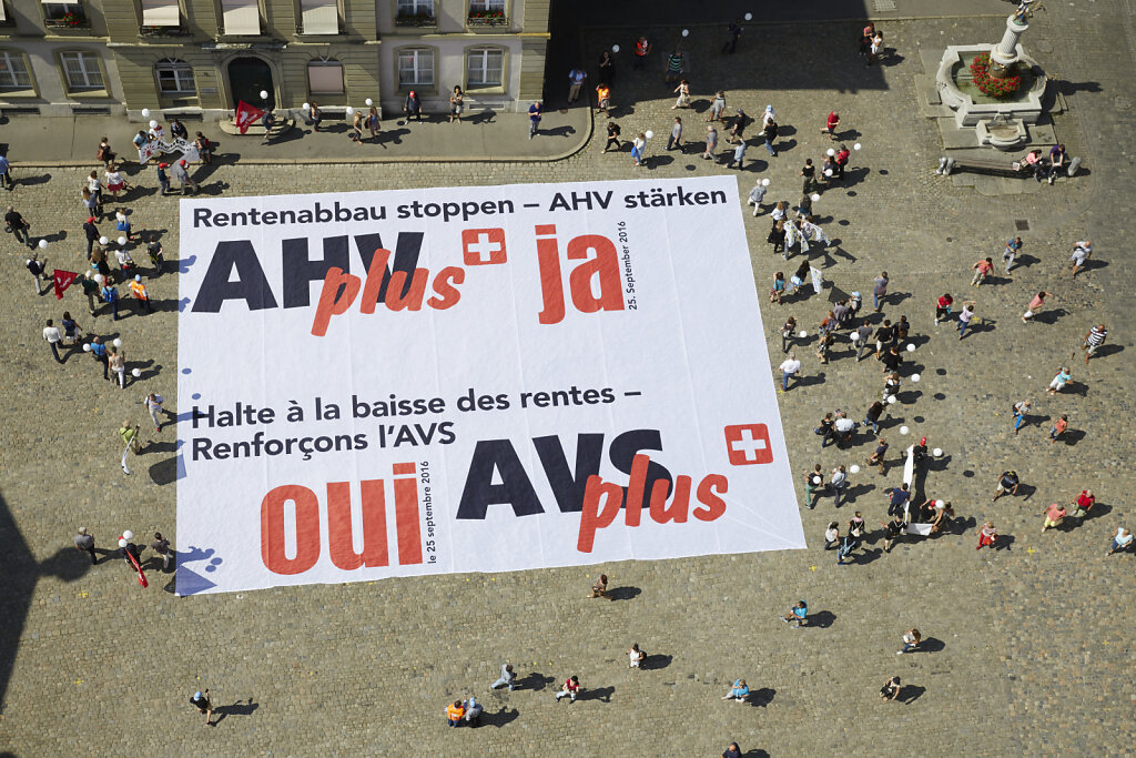 AHVplus-Aktion Bundesplatz