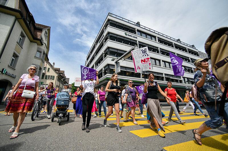 Frauen*streik/grève des femmes*, Rapperswil SG