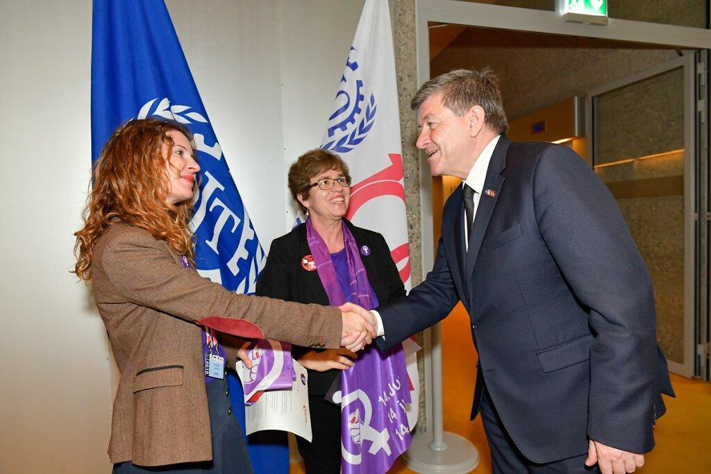 Treffen mit Guy Ryder, Generaldirektor ILO